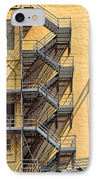 Fire Escape IPhone Case by Rudy Umans