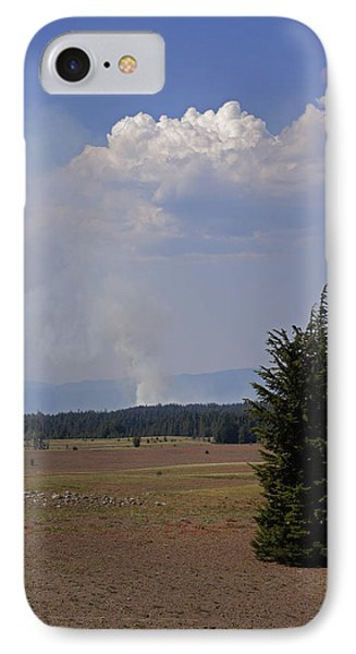 IPhone Case featuring the photograph Fire In The Cascades by Mick Anderson