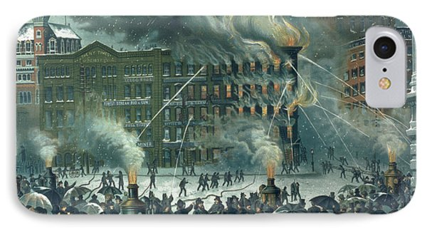 Fire In The New York World Building IPhone Case by American School
