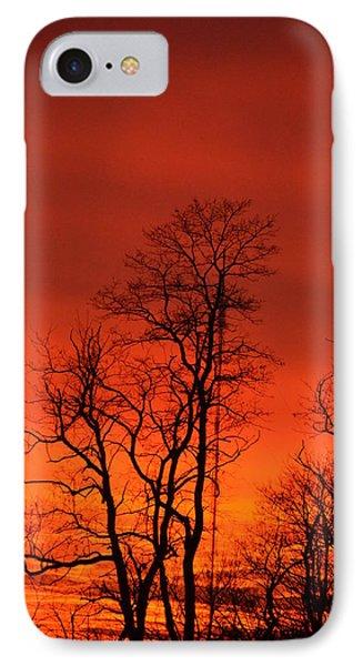 Fire Sky IPhone Case by Bonnie Myszka