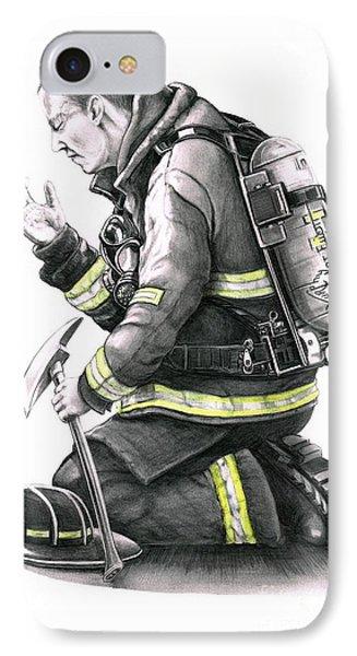 Firefighter Phone Case by Murphy Elliott