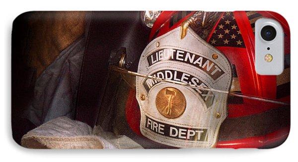 Fireman - Hat - The Lieutenants Cap  Phone Case by Mike Savad