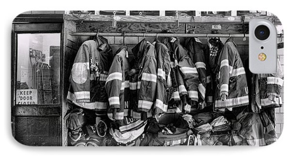 Fireman - Jackets Helmets And Boots IPhone Case by Paul Ward