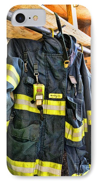 Fireman - Saftey Jacket Phone Case by Paul Ward