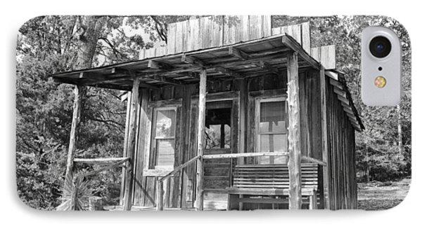 Fireman Cottage B And W Phone Case by Douglas Barnard