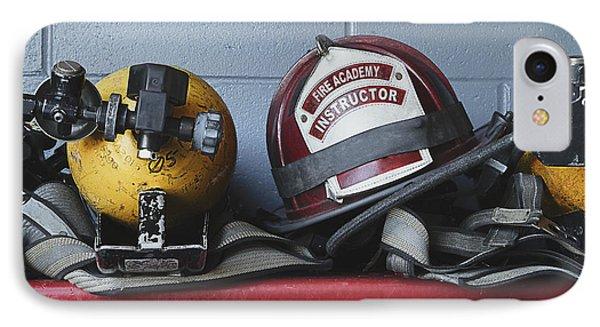 Fireman Helmets And Gear Phone Case by Skip Nall