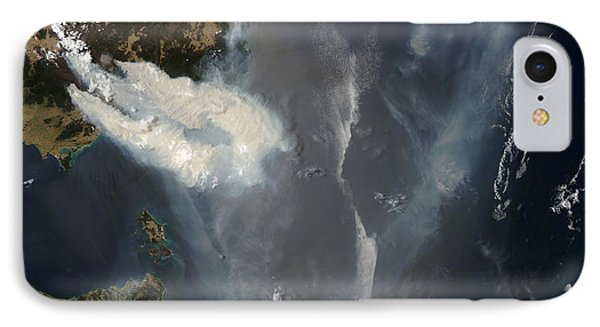 Fires And Smoke In Southeast Australia Phone Case by Stocktrek Images