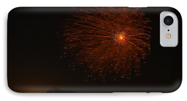 IPhone Case featuring the photograph Fireworks And Wildfire Moon by Tom Gort