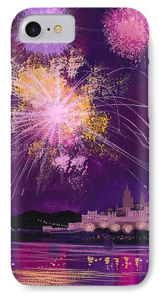 Fireworks In Malta Phone Case by Angss McBride