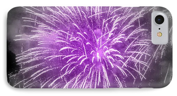 IPhone Case featuring the photograph Fireworks In Mauve by France Laliberte