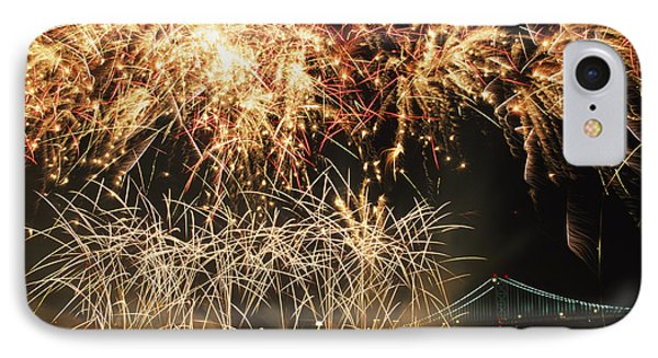 Fireworks Over Harbour Phone Case by Axiom Photographic