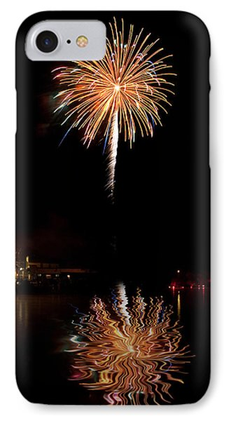 IPhone Case featuring the photograph Fireworks Over Lake by Cindy Haggerty