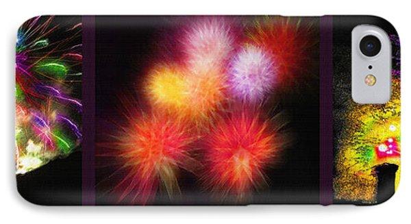 Fireworks Triptych Phone Case by Steve Ohlsen