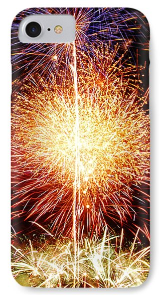 Fireworks_1591 Phone Case by Michael Peychich