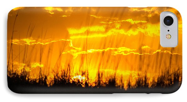 IPhone Case featuring the photograph Firey Sunset by Shannon Harrington