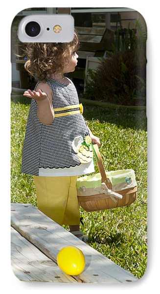 IPhone Case featuring the photograph First Easter Egg Hunt by Steven Sparks