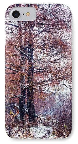 First Snow. Winter Coming Phone Case by Jenny Rainbow