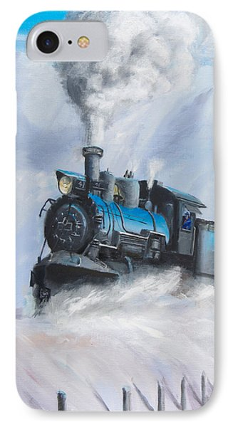 Train iPhone 7 Case - First Train Through by Christopher Jenkins