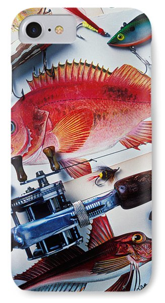 Fish Bookplates And Tackle IPhone Case