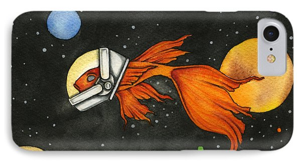 Fish In Space Phone Case by Nora Blansett