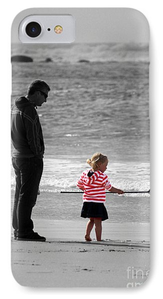 IPhone Case featuring the photograph Fish With Me Daddy by Terri Waters