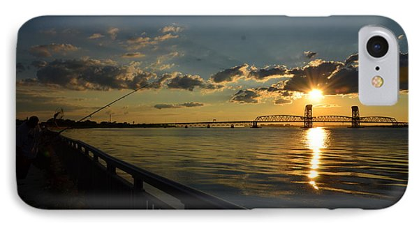 IPhone Case featuring the photograph Fisherman Jamaica Bay by Maureen E Ritter