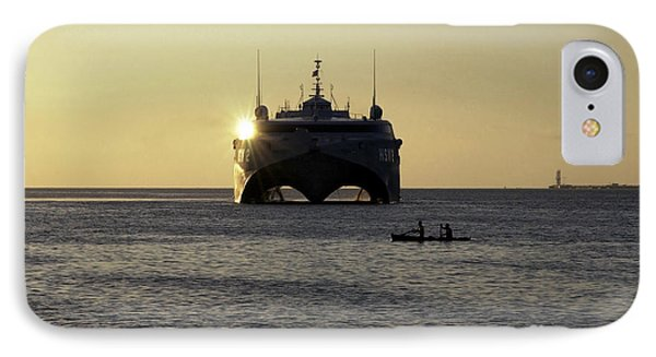 Fishermen Paddle Their Canoe Phone Case by Stocktrek Images