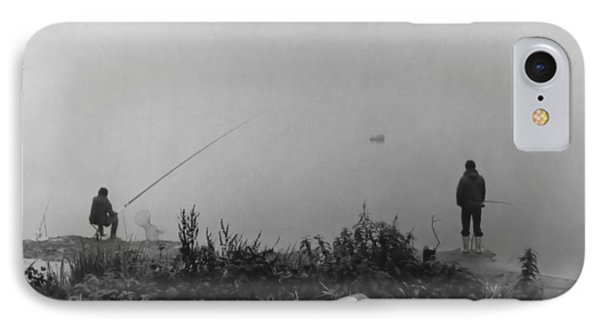 Fishin On The Rhine IPhone Case by Bob Wall