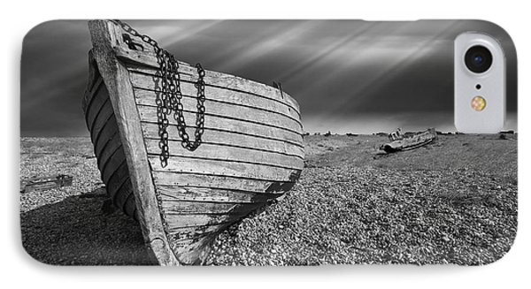 Fishing Boat Graveyard 2 Phone Case by Meirion Matthias