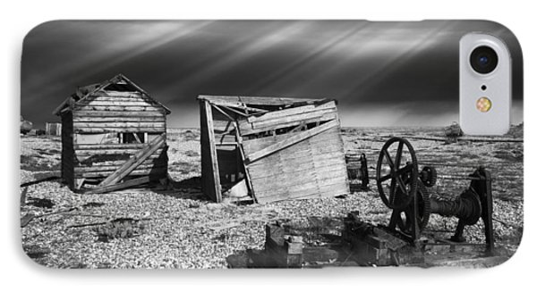 Fishing Boat Graveyard 4 IPhone Case by Meirion Matthias