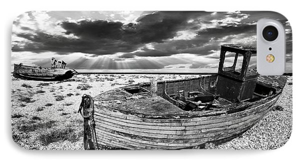 Fishing Boat Graveyard IPhone Case by Meirion Matthias