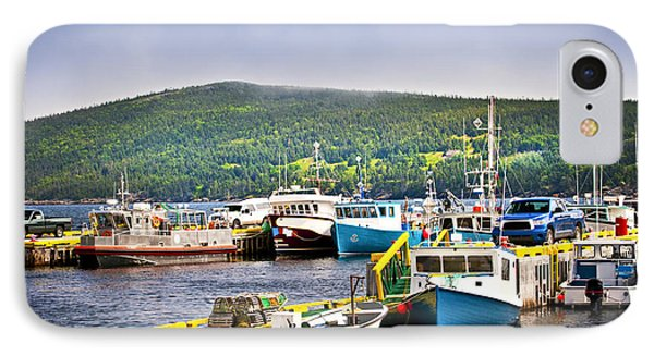 Fishing Boats In Newfoundland Phone Case by Elena Elisseeva