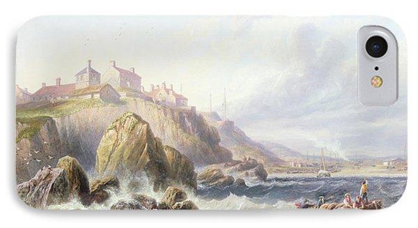 Fishing Boats Off Scotland Phone Case by John Wilson Carmichael
