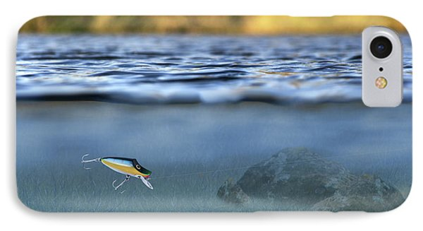 Fishing Lure In Use Phone Case by Meirion Matthias