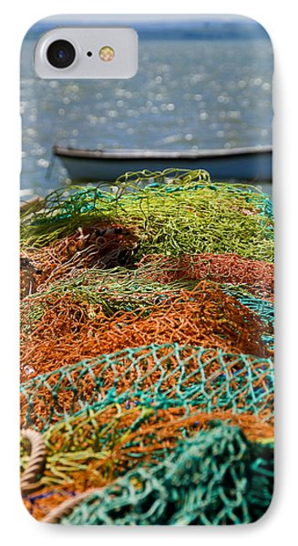 IPhone Case featuring the photograph Fishing Nets by Trevor Chriss