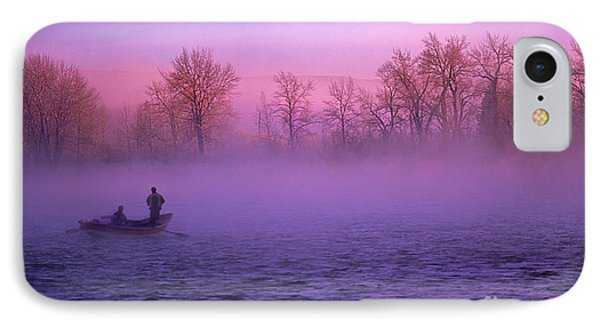 Fishing On The Bow Phone Case by Bob Christopher