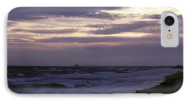 IPhone Case featuring the photograph Fishing Pier Before The Storm 14a by Gerry Gantt