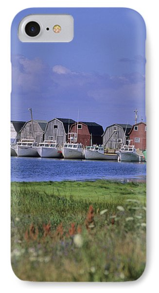 Fishing Shacks Line The Bay At Malpeque Phone Case by Leanna Rathkelly