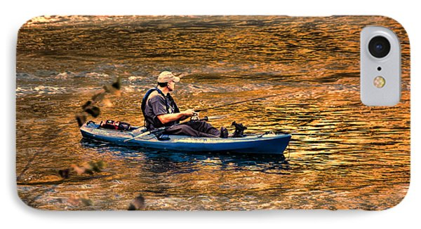 Fishing The Golden Hour Phone Case by Steven Richardson