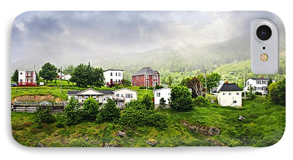 Fishing Village In Newfoundland IPhone Case by Elena Elisseeva