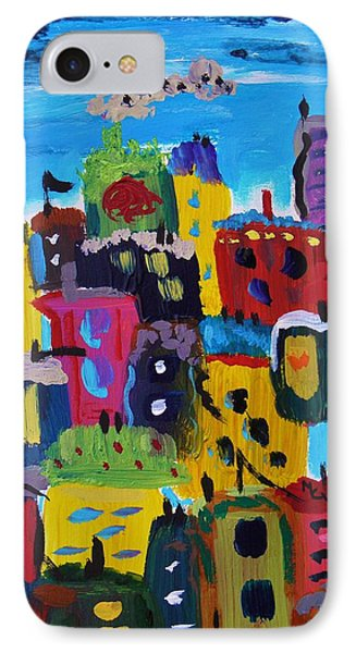 Five Bright Yellow Buildings IPhone Case