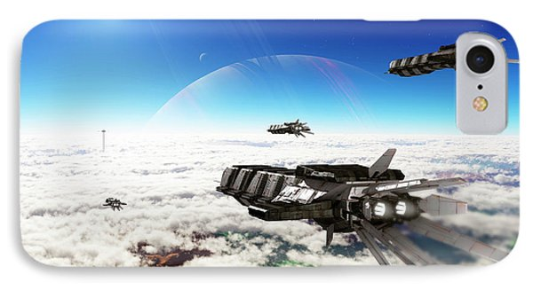 Five Medium Freighters Deccelerate Phone Case by Brian Christensen