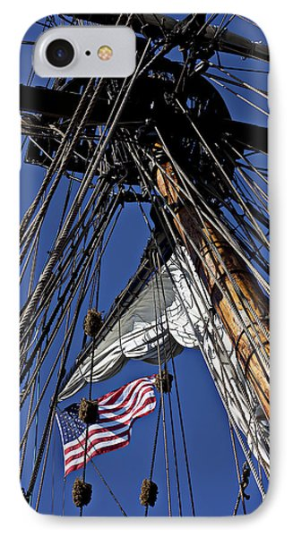Flag In The Rigging Phone Case by Garry Gay