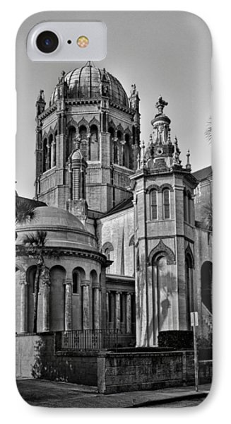 Flagler Memorial Presbyterian Church 3 - Bw Phone Case by Christopher Holmes