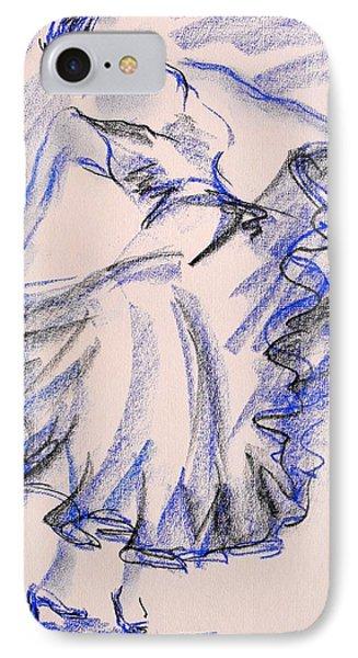 Flamenco Dancer 8 IPhone Case by Koro Arandia