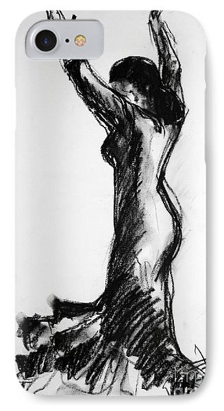 Flamenco Sketch 3 IPhone Case by Mona Edulesco