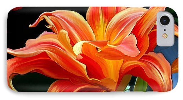 Flaming Flower IPhone Case by Patricia Griffin Brett