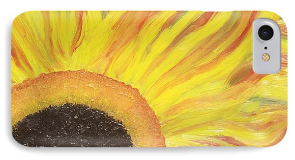 Flaming Sunflower IPhone Case by Margaret Harmon