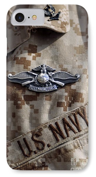 Fleet Marine Force Warfare Device Pin Phone Case by Stocktrek Images