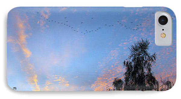 Flight Into The Sunset Phone Case by Ausra Huntington nee Paulauskaite